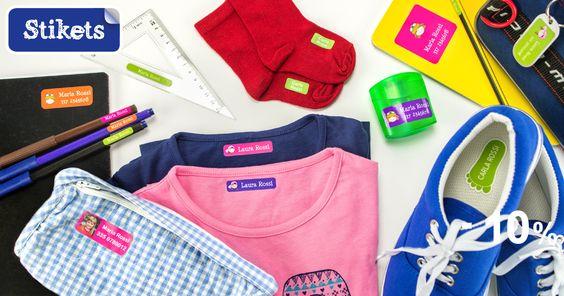 Etichette per mettere il nome su ogni cosa: perfette per la scuola!