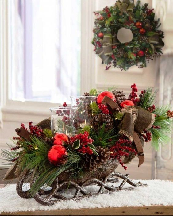 Sleigh for christmas decor decorations