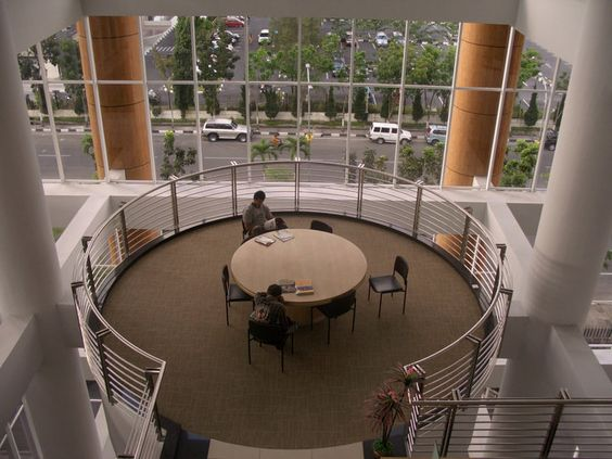 round room at Soeman HS Library, Riau, Indonesia