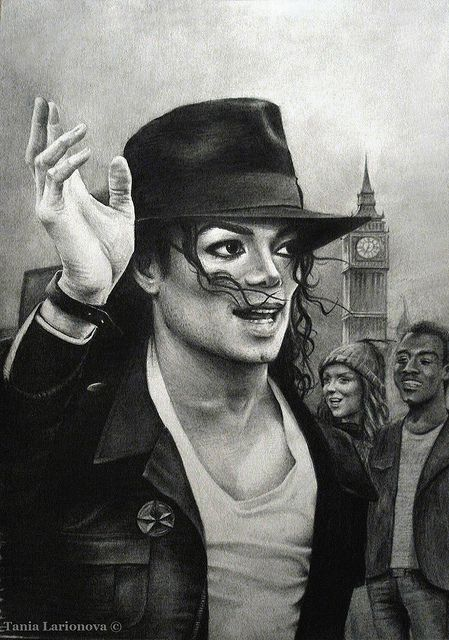 Pencil drawing by artist Tania Larionova of Michael ...