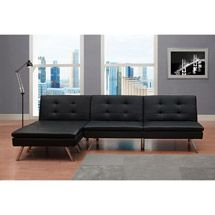 Walmart: Chelsea 3-Piece Living Room set, Black
