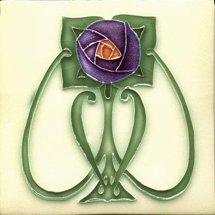 Arts & Crafts / Art Nouveau Style Mackintosh Ceramic Tiles / Plaque / Fireplace…