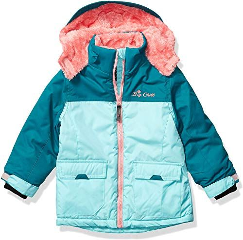 CANADA WEATHER GEAR Girls Quilted Raglan Insulated Parka