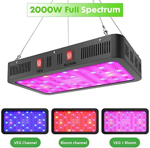 New Grossyland 2000w Full Spectrum Led Grow Light Indoor Plants High Par Value Osram 3030 Led Chips Growing Lamps Bulbs Veg Bloom Switches Online Shopping In 2020 Grow Lights Led