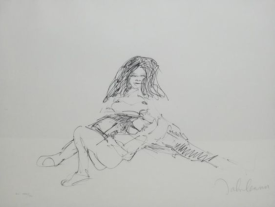"""Erotic 8"" lithograph by John Lennon, from the ""Bag One"" portfolio"