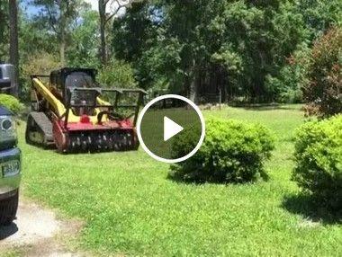 Maquina de tirar arbustos.