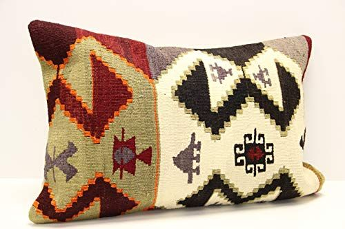 tribal kilim pillow sofa pillow lumbar kilim pillow  anatolian klim pillow 16x24 turkish kilim pillow cushion cover floor pillow