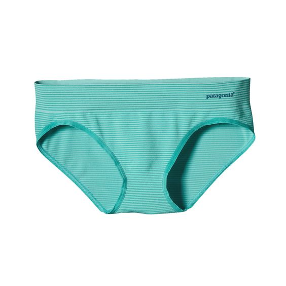 Soft, lightweight and low-riding, Patagonia Women's Active Hipster underwear are seamless, stretchy, wicking and pair nicely with our Active Mesh Bra.