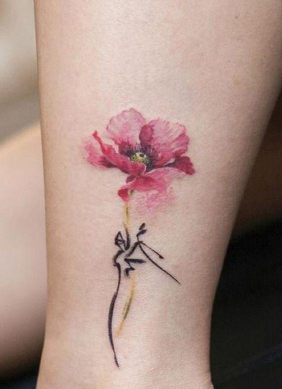 100 Trending Watercolor Flower Tattoo Ideas For Women Flower Tattoo On Ankle Ankle Tattoo Tattoos For Women