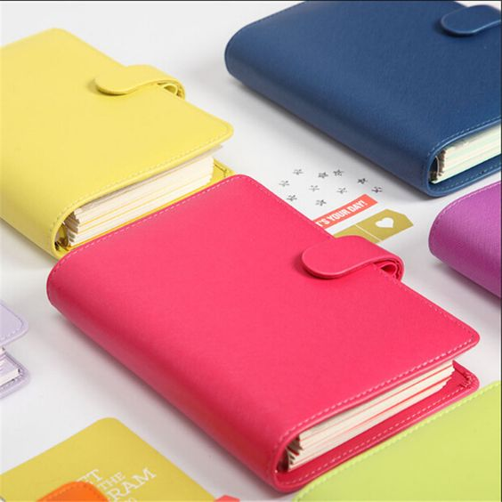 pas cher 2015 nouvelle dokibook portable bonbons couleur couverture a5 a6 feuilles mobiles temps. Black Bedroom Furniture Sets. Home Design Ideas