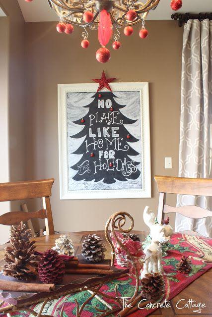 Christmas Tree Chalkboard     L o v e l y • C h r i s t m α s • T ...