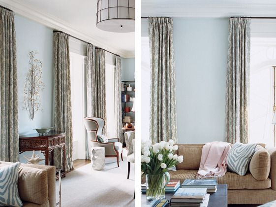 Small spaces hanging curtains and spaces on pinterest - Curtains for small spaces ...