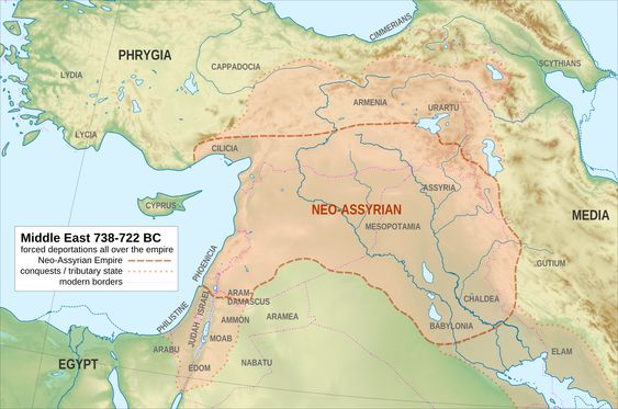 Neo-Assyrian Empire in 738-722BCE