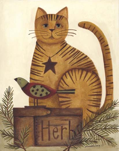 Primitive Cat Painting Ideas Pinterest Cats And