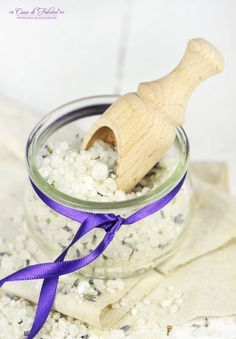Lavendel Badesalz selbstgemacht #diy #Badegenuss #Schaumbad