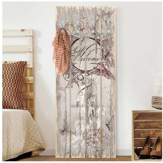 Bilderwelten Wandgarderobe Holz Hochformat Top 8 Garderoben In