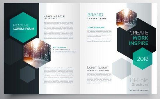 مطويات بروشورات ملف مفتوح للفوتوشوب جاهز Magazine Design Brochure Cover Design Brochure Design Template