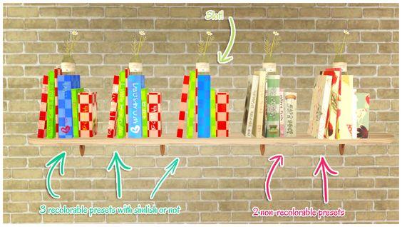 Everlasting-Garden - Books working as a functional bookshelf #Sims3