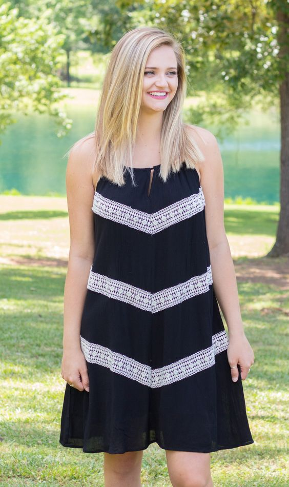 Black Gauze With Crochet And Rope Detail
