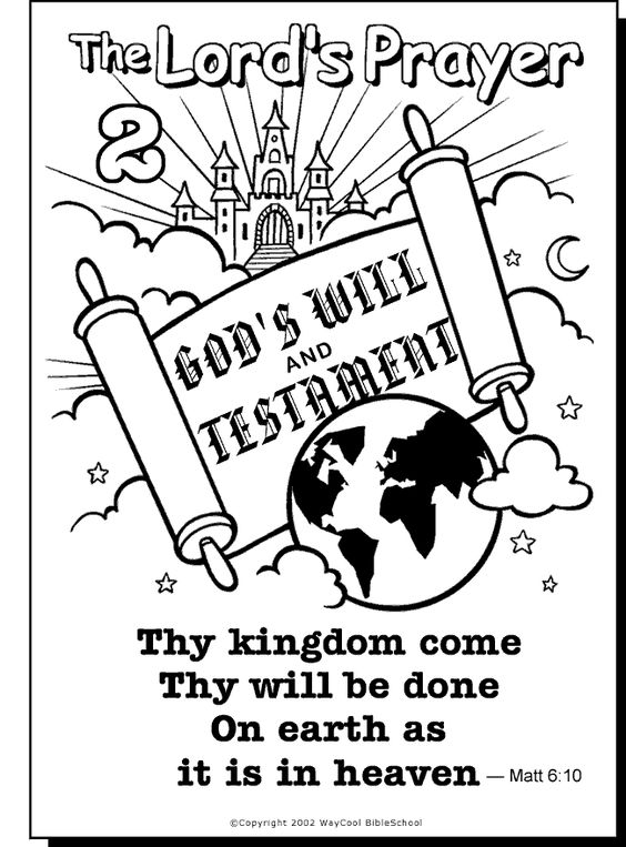 Clever image with regard to the lord's prayer coloring pages printable