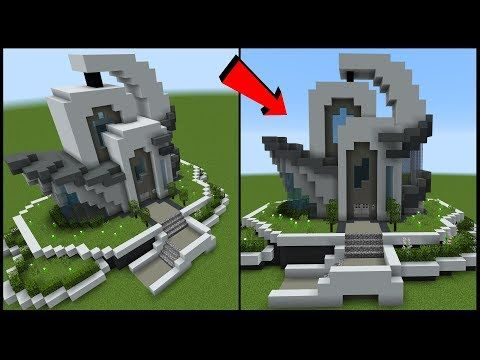 How To Build A Futuristic House In Minecraft Youtube Futuristic Home Minecraft Architecture Minecraft House Designs