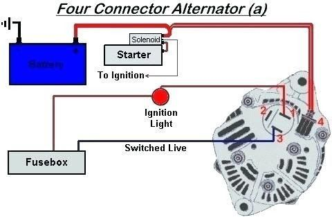 your powermaster alternator is designed to work as a 1 wire