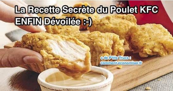 Après des années d'attente, vous allez enfin pouvoir faire chez vous du poulet façon KFC. Vous allez voir, ce n'est pas bien compliqué et c'est bien meilleur qu'au KFC !  Découvrez l'astuce ici : http://www.comment-economiser.fr/recette-secrete-du-poulet-kfc-devoilee.html?utm_content=buffer56345&utm_medium=social&utm_source=pinterest.com&utm_campaign=buffer