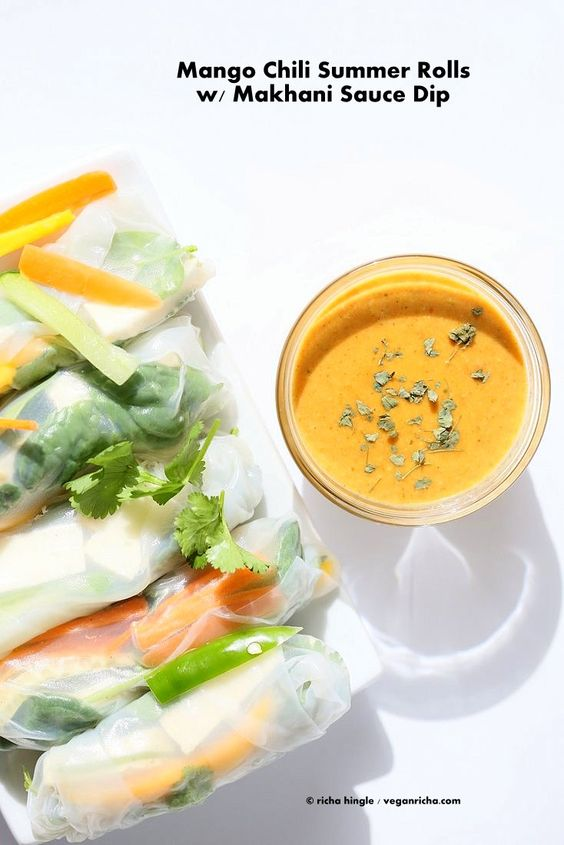 ... and more summer rolls dipping sauces mango tofu sauces summer vegans