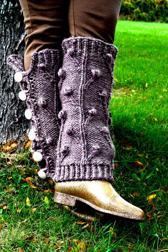 """Ironforge Leg Warmers - from """"Wrap your Knitting With Love"""", The Intrepid Knitters new e-book.    Free pattern on Ravelry: http://www.ravelry.com/patterns/library/ironforge-leg-warmers"""