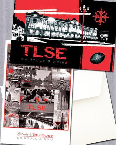 Belles images et montages aux couleurs de Toulouse Cartes postales au format 10 x 15 cm.