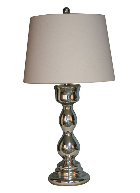 """28.5"""" H Table Lamp with Drum Lamp"""