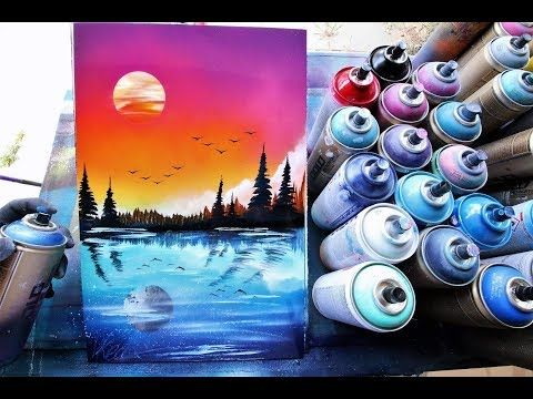 Day in Night reflection -SPRAY PAINT ART by Skech - YouTube ...