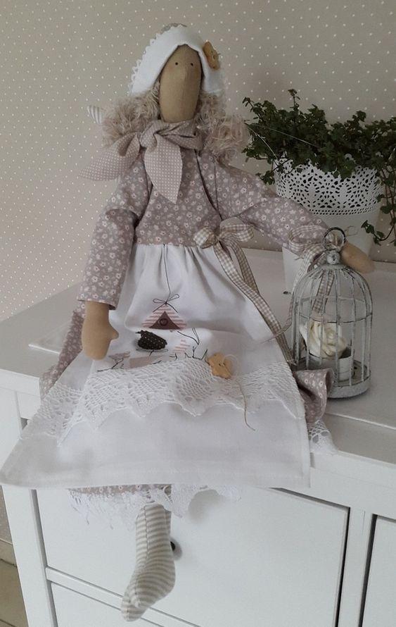"""Deko-Objekte - großer Engel """"Gartenzauber"""" Landhaus - ein Designerstück von Feinerlei bei DaWanda"""