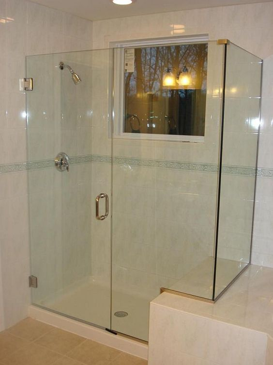 Shower enclosure glass shower enclosures and glass for Cool shower door ideas