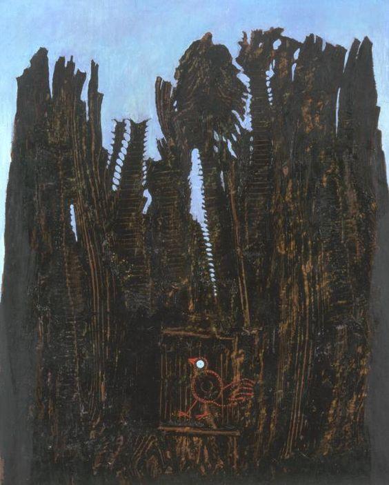 Max Ernst, Forest and Dove, 1927 via TATE Grattage surrealist techniques