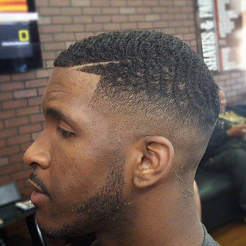 Short haircut black man