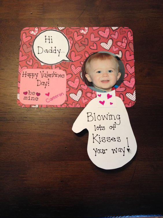 Handmade Valentines Day Card, Toddler Hand, Crafty My Handmade