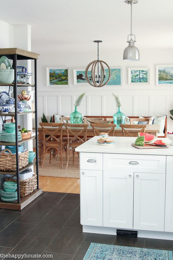 """Seasonal Simplicity"" Summer Kitchen Tour - The Happy Housie"