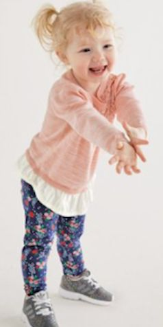 sweet peplum sweater and printed leggins for little girls