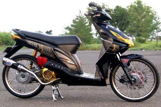 2019 Modifikasi Motor Beat Paling Keren Terbaru Di Indonesia Motor Motor Modifikasi Lowrider