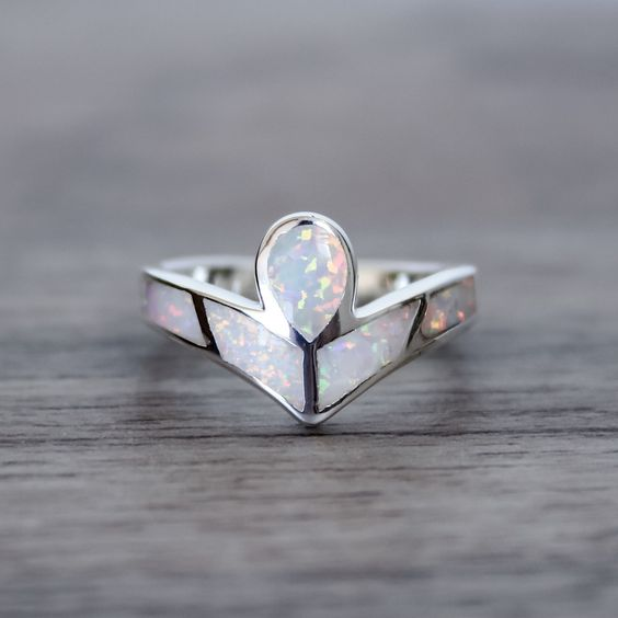 Angel Opal Ring Tribal Bohemian Gypsy Jewelry Boho Festival Jewellery Hippie Style Fashion Indie and Harper