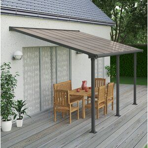 19 5 Ft X 19 5 Ft Canopy In 2020 Patio Awning Patio Pergola Patio