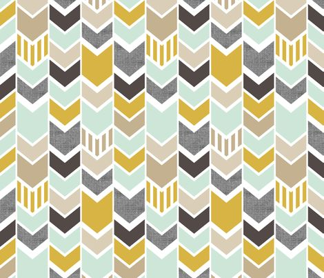 mint gold chevron fabric by mrshervi on spoonflower