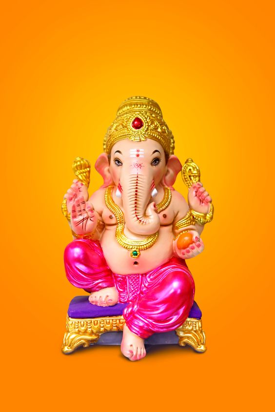 Yellow Background With Ganesh ji Images 2020