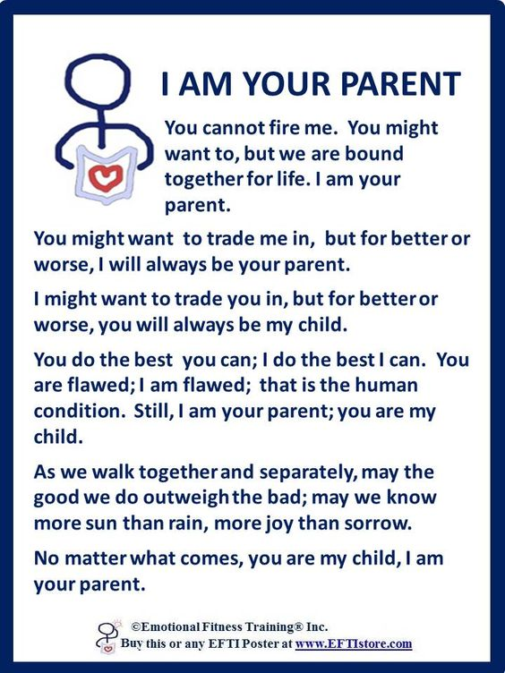I Am Your Parent - One of several free  printable Poster Coach downloads at the EFTI Store.