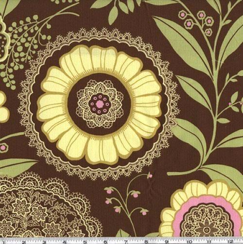 Amy Butler Lotus Lacework Brown $8.98/y      Designer: Amy Butler     Manufacturer: Westminster/Rowan Fabrics     Collection: Lotus