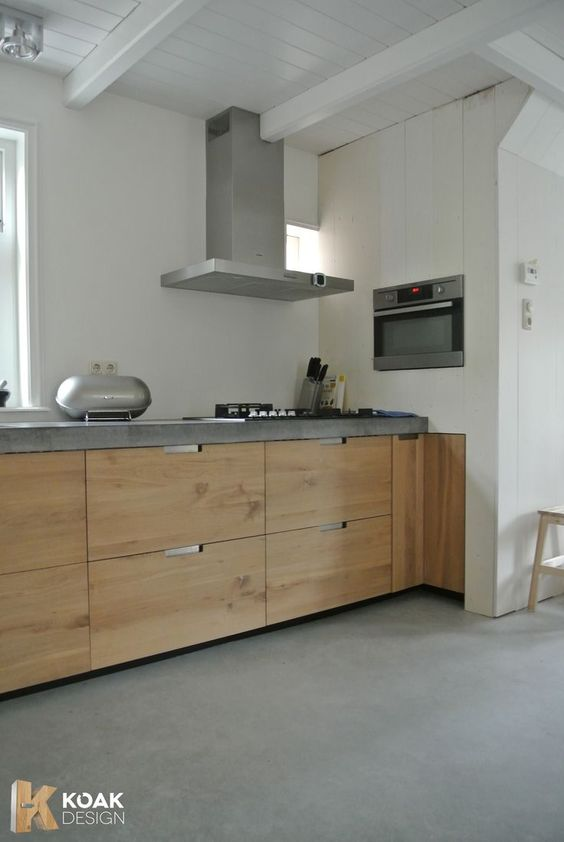 Anstelle Fliesenspiegel ein fugenloser Putz in Betonoptik Wand - küchenspiegel selber machen