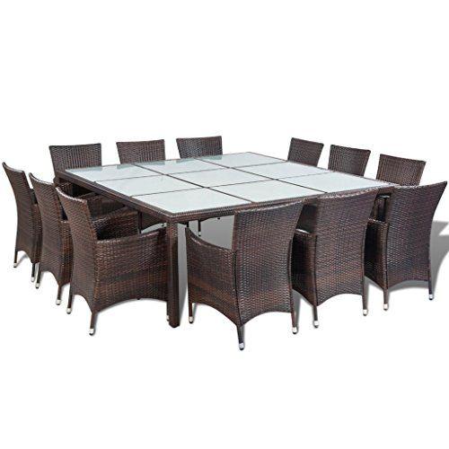 Vidaxl Essgruppe Poly Rattan Braun Gartenmobel Set Sitzgruppe