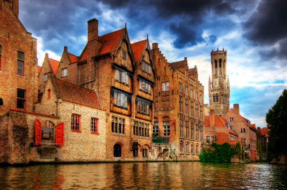 """Brugge    The history of Brugge goes back to medieval times, and like many cities in the region, its system of canals has earned it the nickname """"Venice of the North"""