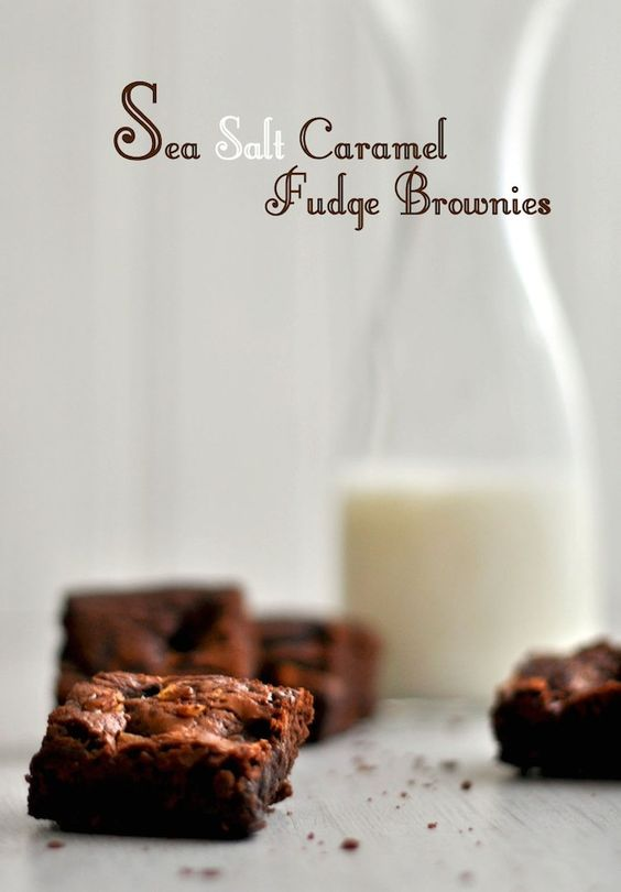 Sea Salt Caramel Fudge Brownies